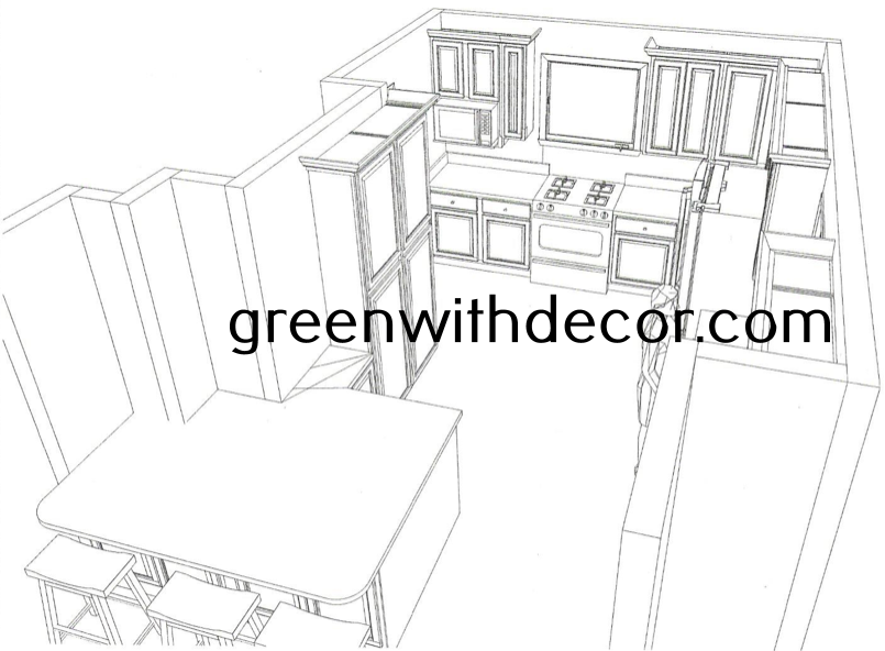 Green With Decor - Kitchen layout