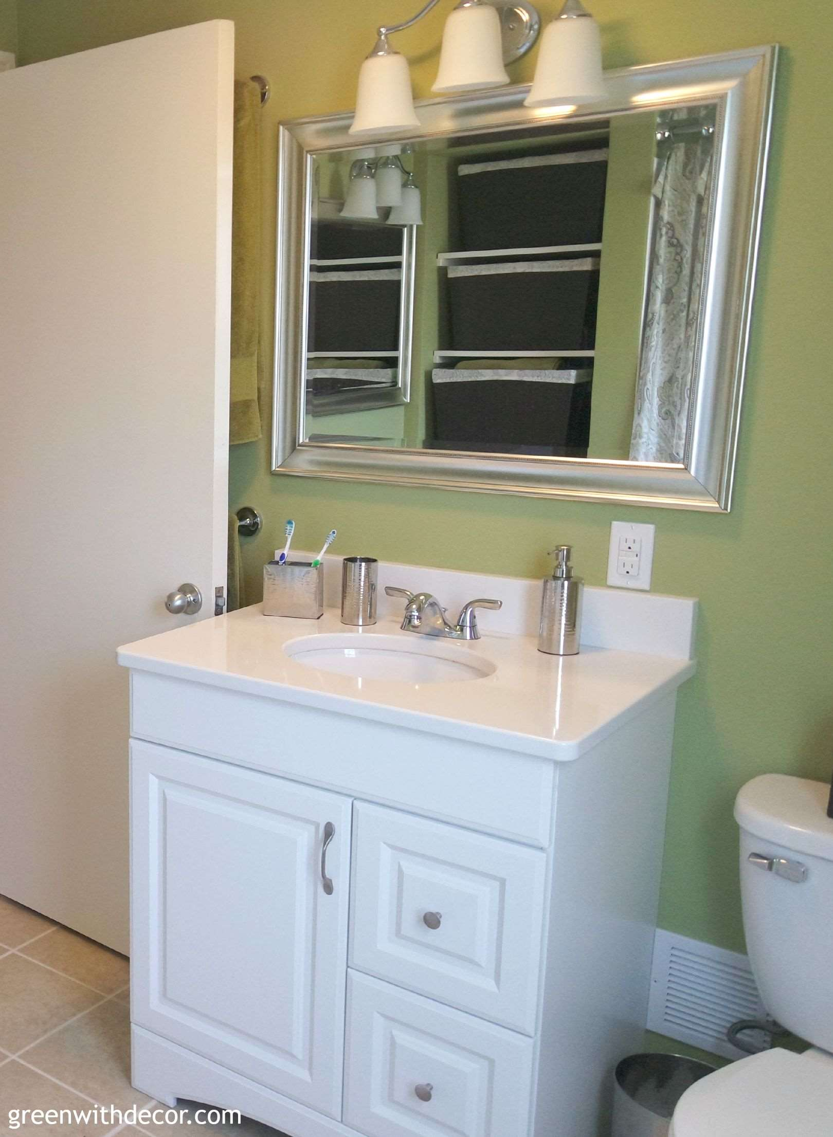 Buying Bathroom Vanities Green With Decor