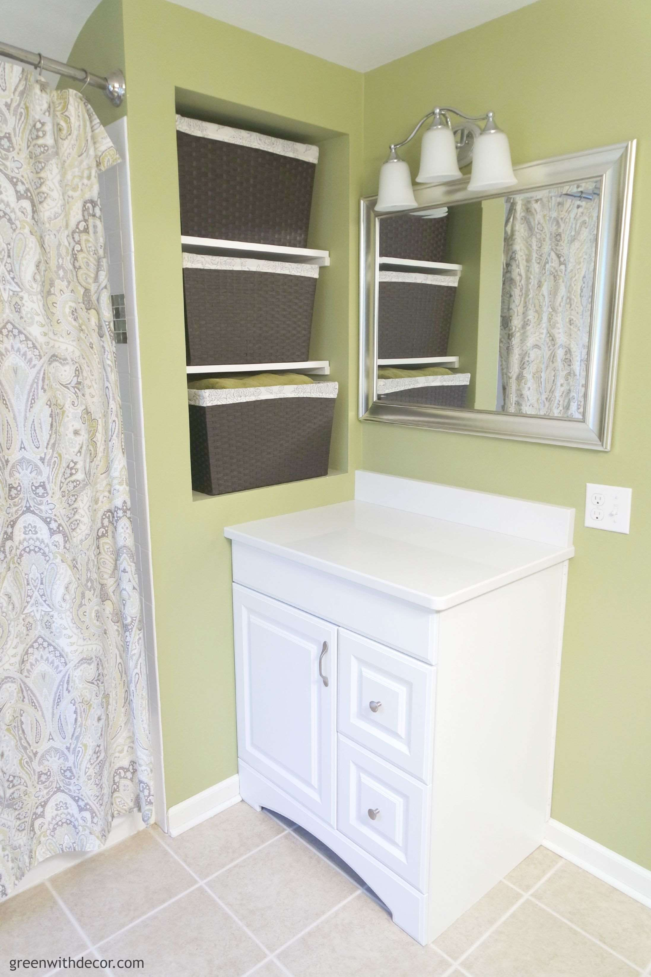Smart ideas for picking bathroom mirrors. Kirkland's and Target are great places to look! | Green With Decor