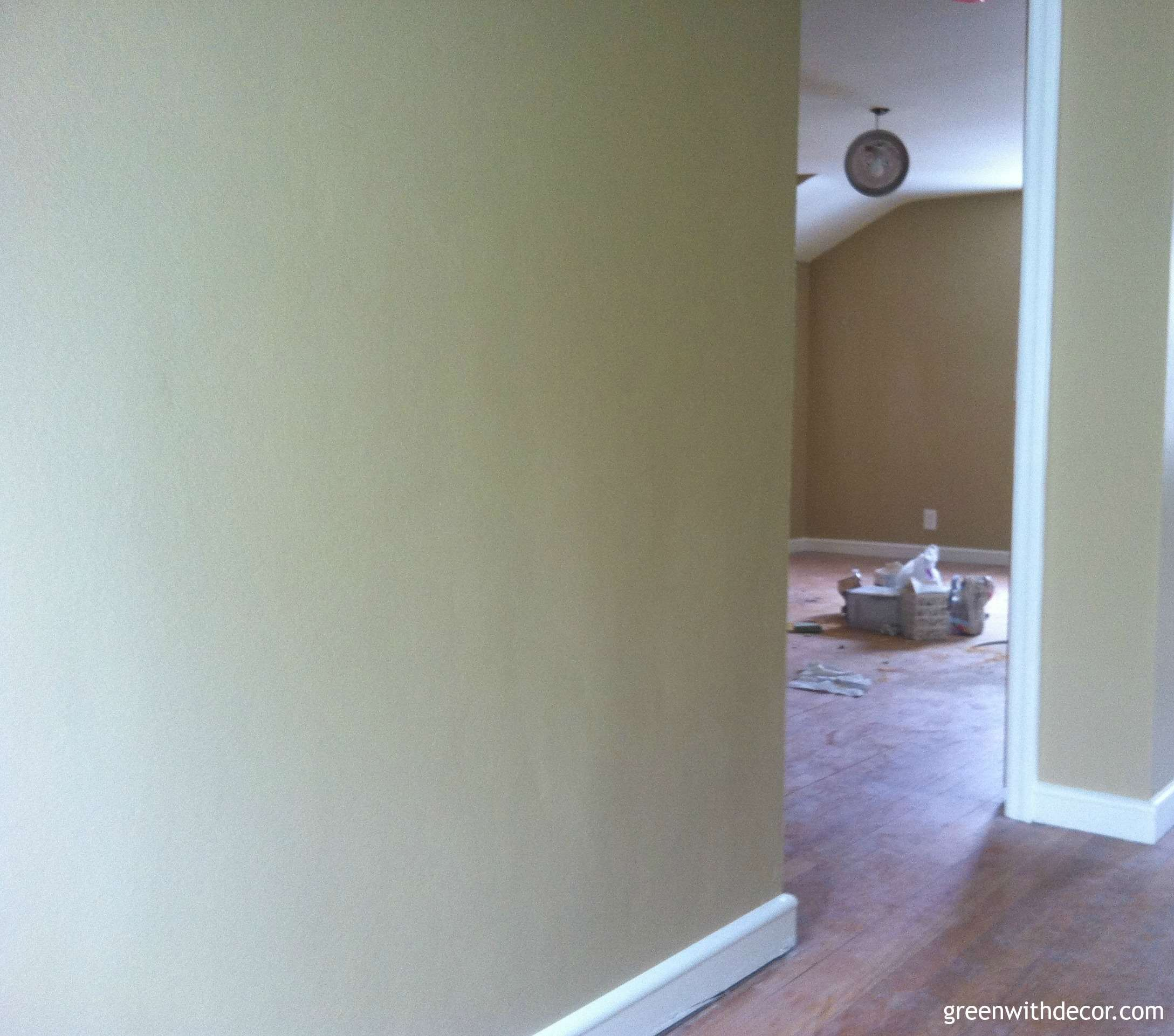 Green With Decor – Sherwin Williams Camelback paint hallway