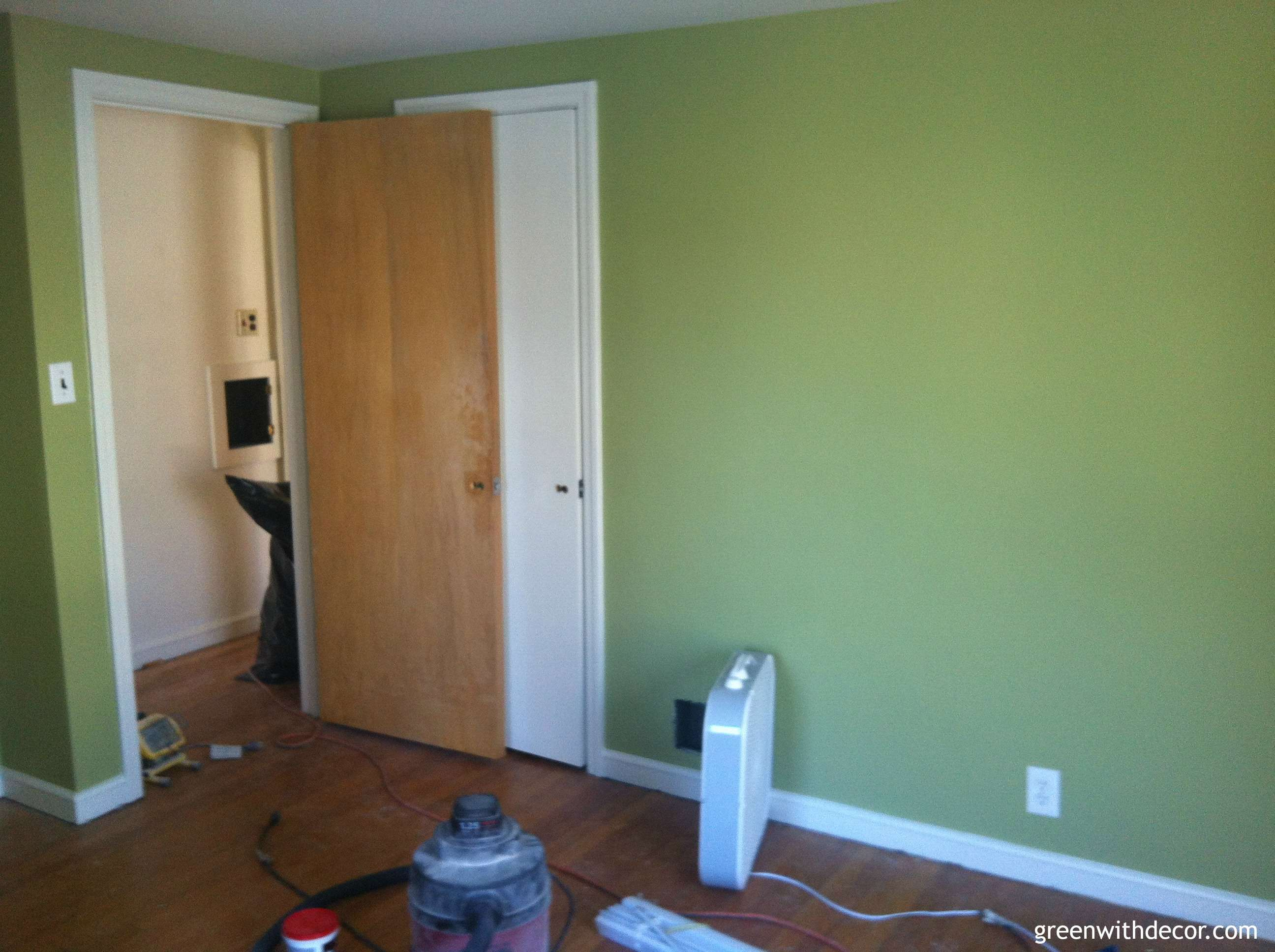 Green With Decor – Sherwin Williams Ryegrass green paint bedroom
