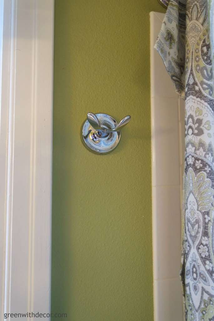 Picking hardware in a bathroom renovation | Green With Decor