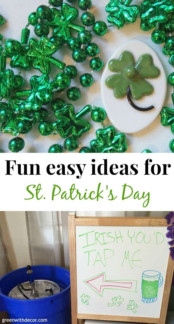 Fun, easy green ideas for St. Patrick's Day decorations!