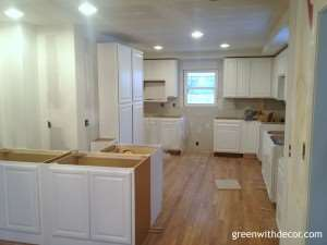 Green With Decor – White cabinets delivered