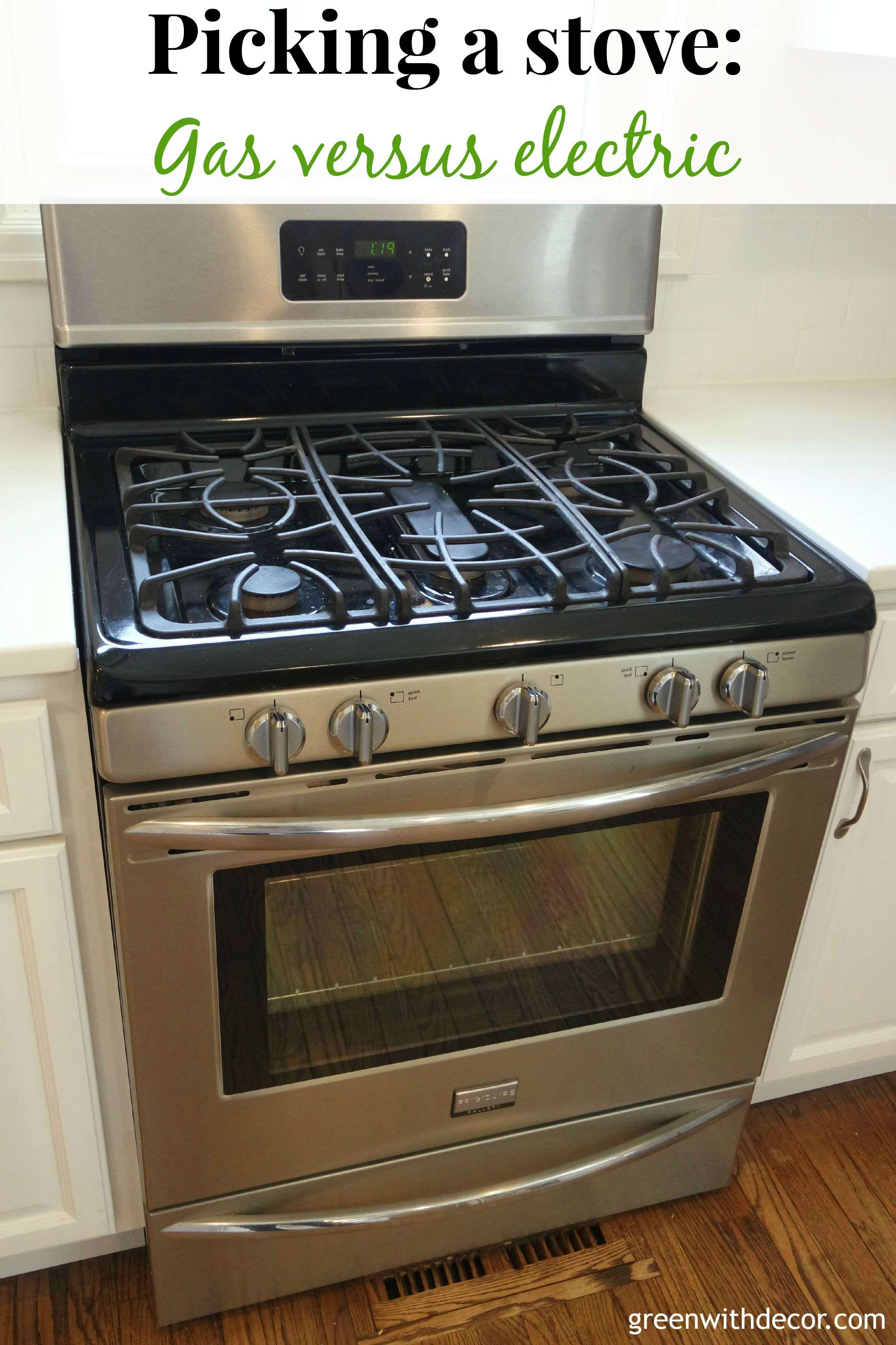 Tips for picking kitchen appliances. There are some great ideas here that I hadn't thought of! So helpful when going through a kitchen renovation! | Green With Decor