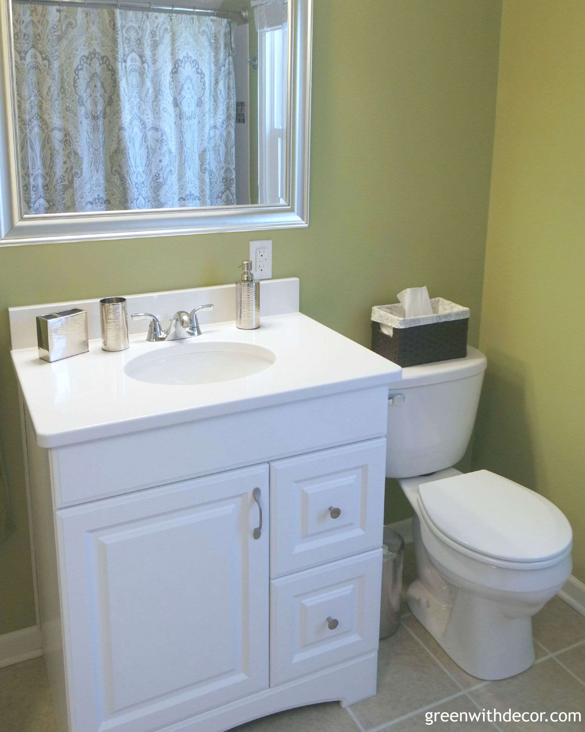 Things to consider for a bathroom layout green with decor for Bathroom accessories location