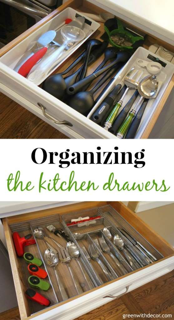 Green With Decor – How to organize your kitchen drawers