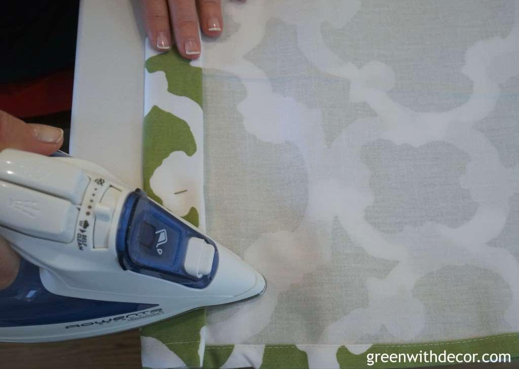 How to make window valances from a shower curtain. | Green With Decor