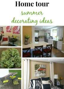 Easy ideas for decorating for summer! Summer home tour by Green With Decor blog