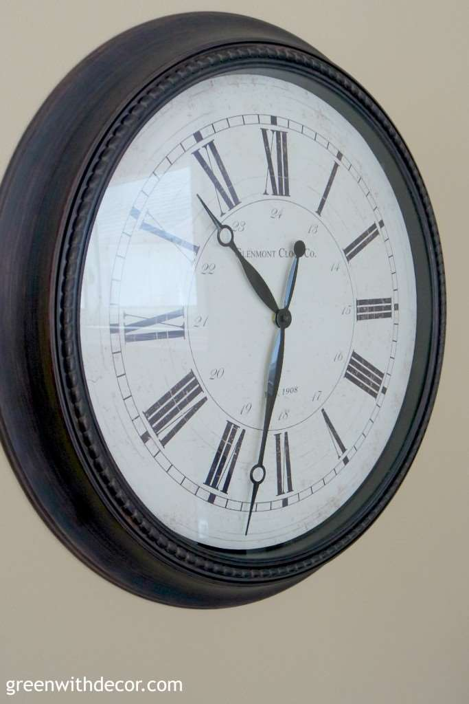 This clock would be perfect in the family room! | Green With Decor