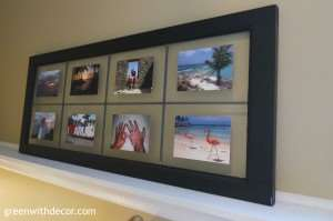 Green With Decor – Easy DIY project: Glass doors turned picture frames