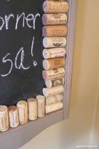 Green with Decor – A fun, easy project with wine corks and chalkboard paint.