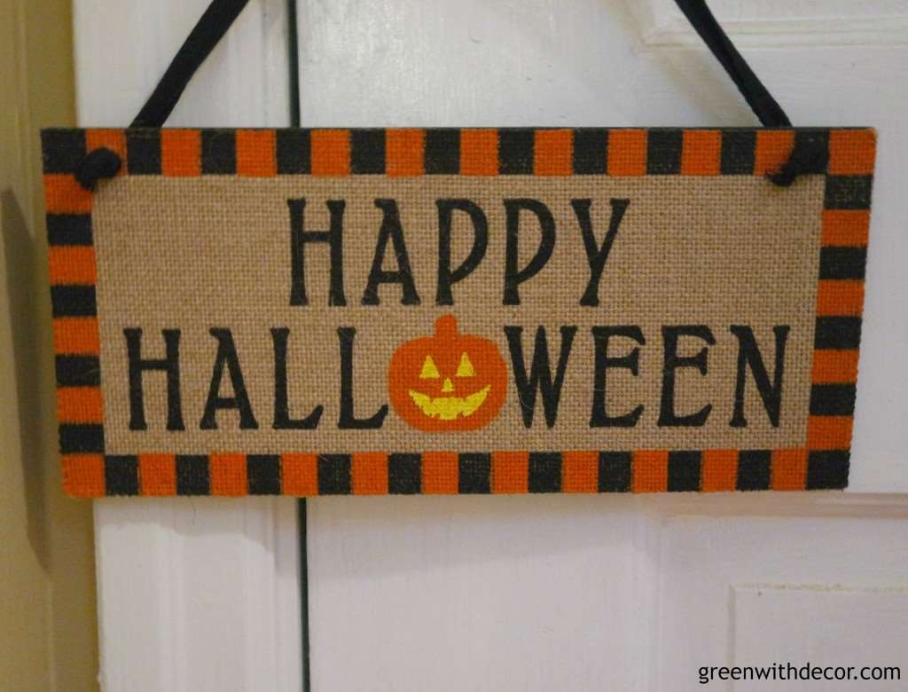 Happy Halloween sign from Green With Decor.