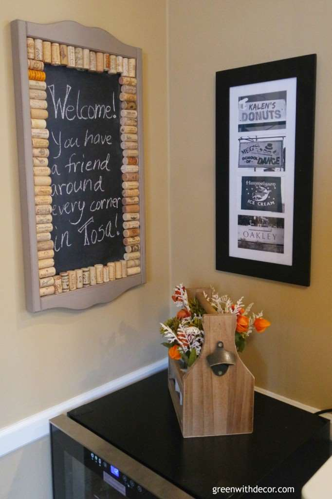 What a clever idea! Take everyone's name in your family and frame them together! Green With Decor blog
