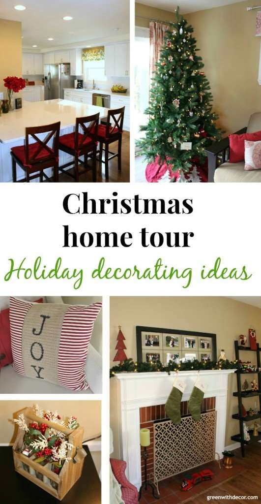 Christmas home tour! So comfy and cozy, I'm loving the way this blogger decorates for Christmas! | Green With Decor