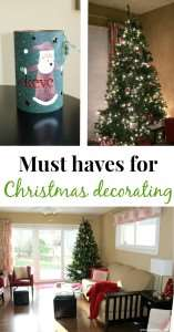 A great list of easy, affordable must haves for Christmas decorating. Things that mean the most and don't break the bank! | Green With Decor