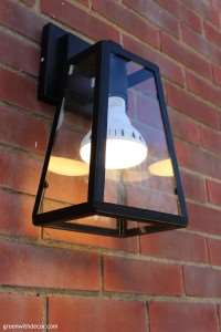 I've been looking at outdoor light fixtures. I love this one! | Green With Decor