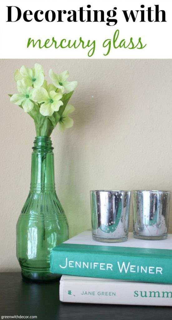 Fun shelf decorating ideas from a group of talented bloggers! Check these out! | Green With Decor