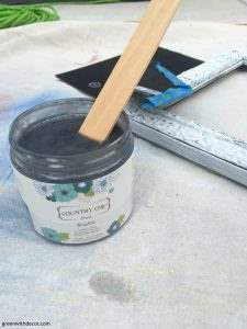 How to add glaze to painted pieces. This tutorial is so easy, I have to find something to paint and glaze now! | Green With Decor
