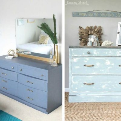 Colorful dresser makeovers, get inspired for your next painting project for the bedroom! Green dressers, blue dresser, pink dressers and red dressers!