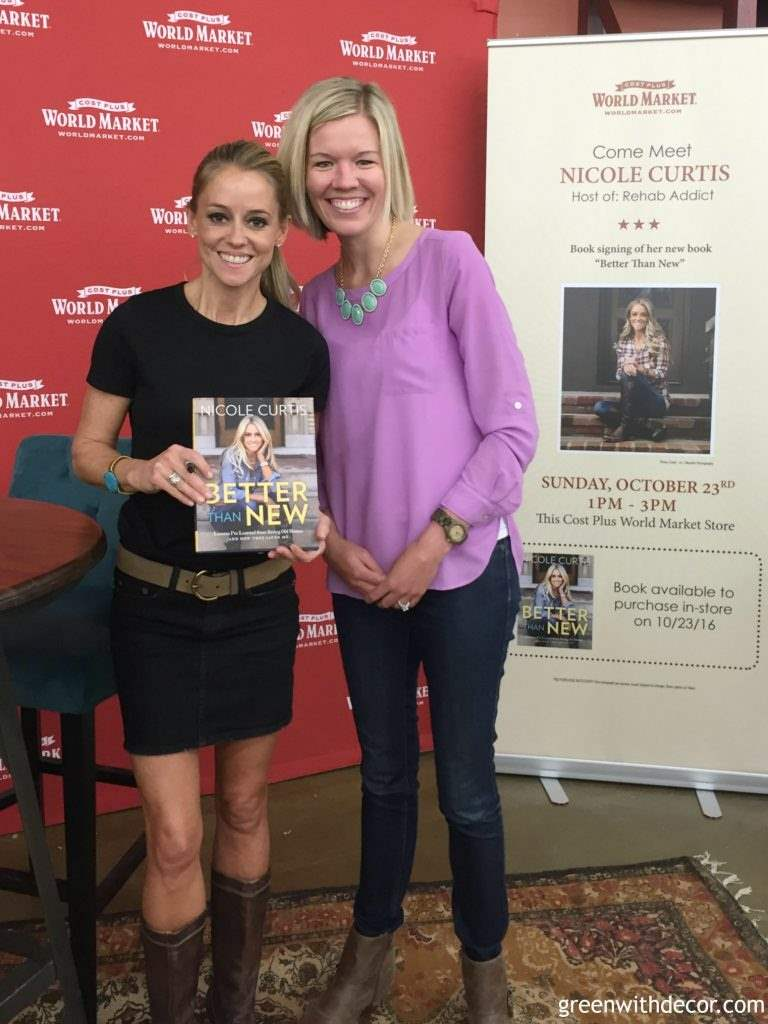 Meeting Nicole Curtis at a World Market store event!