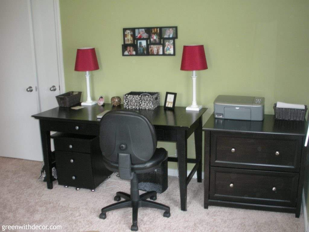 Great design plans for a fun home office makeover!