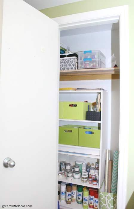 How To Organize A Craft Closet Without Spending A Dime Green With