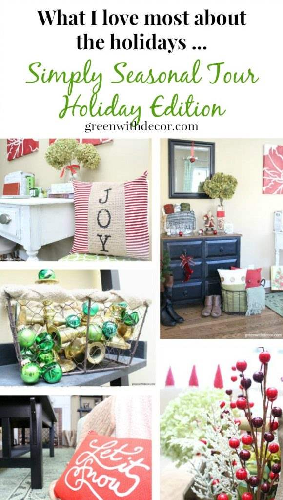 Green With Decor - Decorating the living room for Christmas on a ...