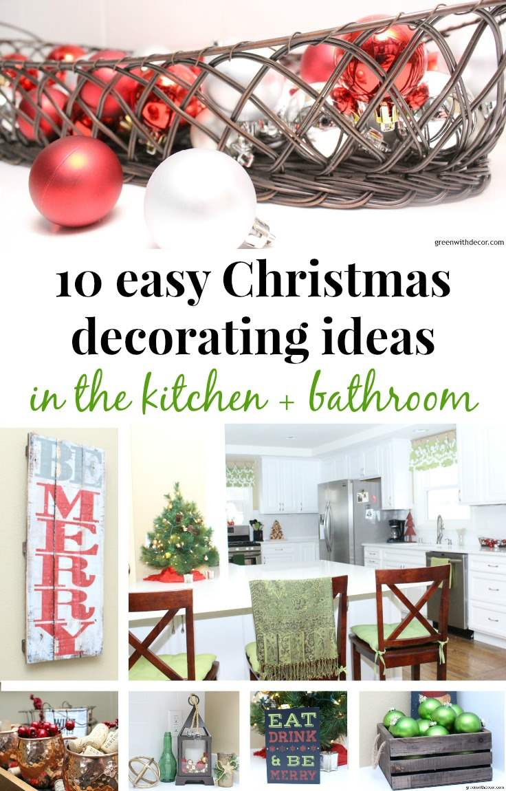 easy-christmas-decorating-ideas-kitchen-bathroom-banner - Green With ...
