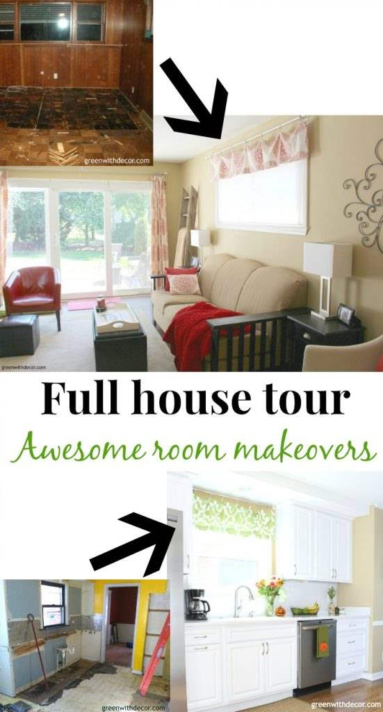 A full before and after tour of our house. See room renovations and makeovers for a kitchen, bathroom, family room, bedrooms and more.