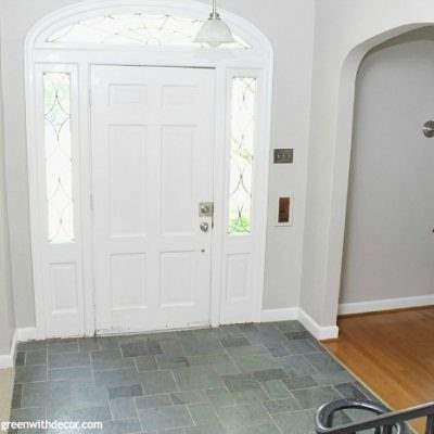 The painted foyer: Agreeable Gray