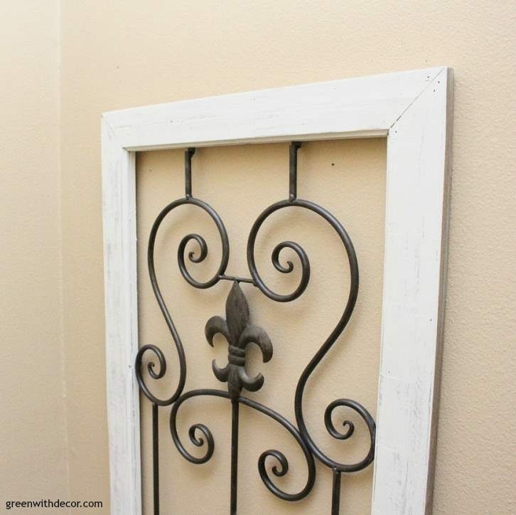 A rustic wall gate makeover | great tutorial for using clay paint | farmhouse wall decor to fill big blank wall