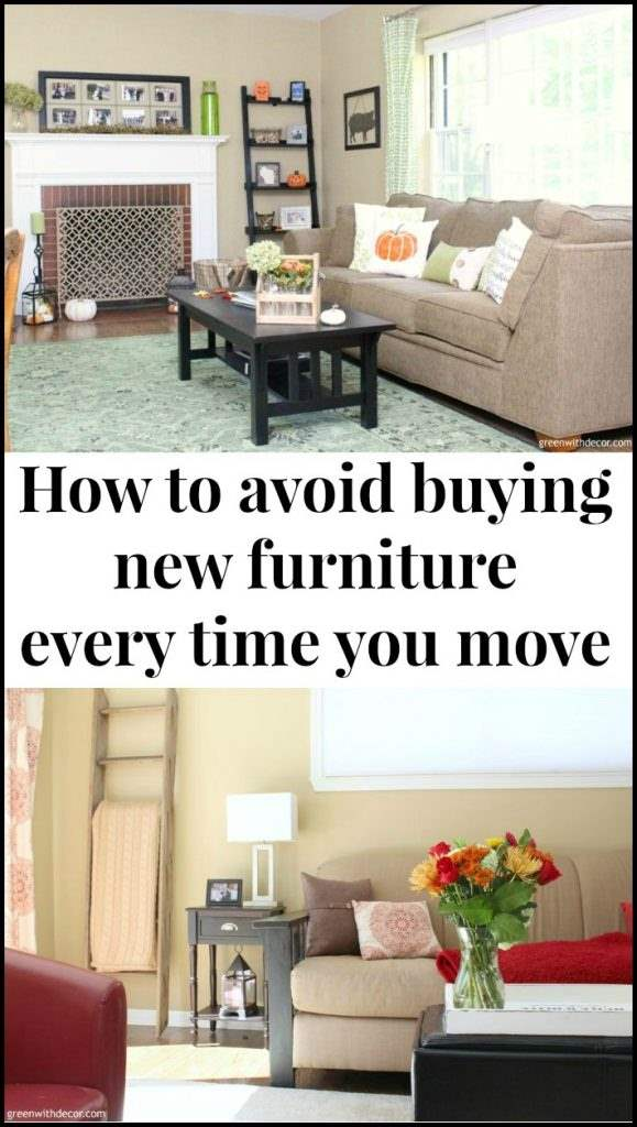 How to avoid buying new furniture every time you move - great ideas for reusing a big couch in different living rooms