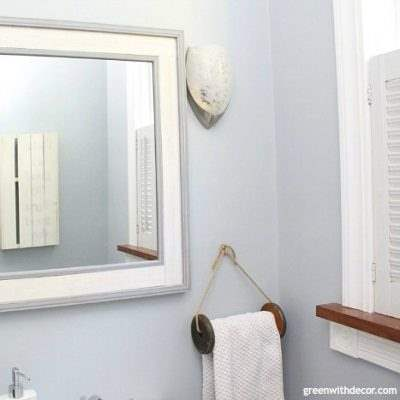 Decorating a whole house – small coastal blue bathroom makeover
