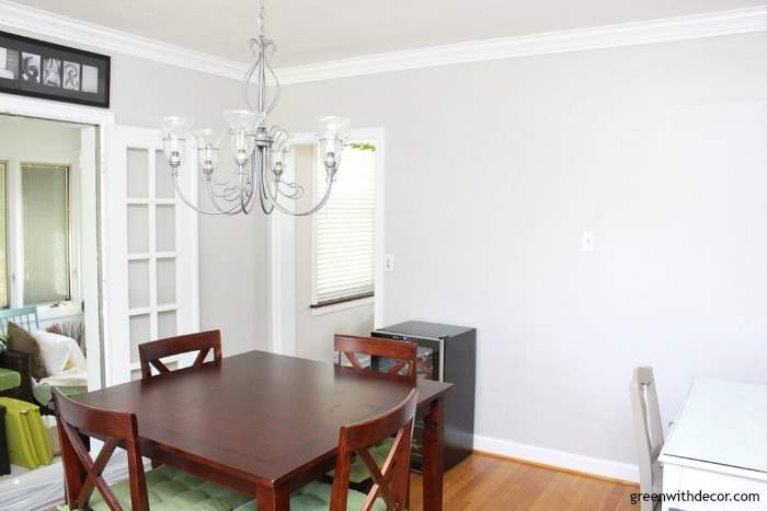 Agreeable Gray Paint In The Dining Room Amazing What Some Can Do To Brighten