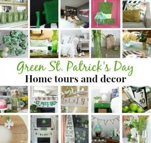 This blogger goes crazy for St. Patrick's Day! She has fun St. Patrick's Day decor ideas for the whole house! Plus 19 other bloggers share their home tours, too. Great ideas for adding green to any room of the home! | Green With Decor