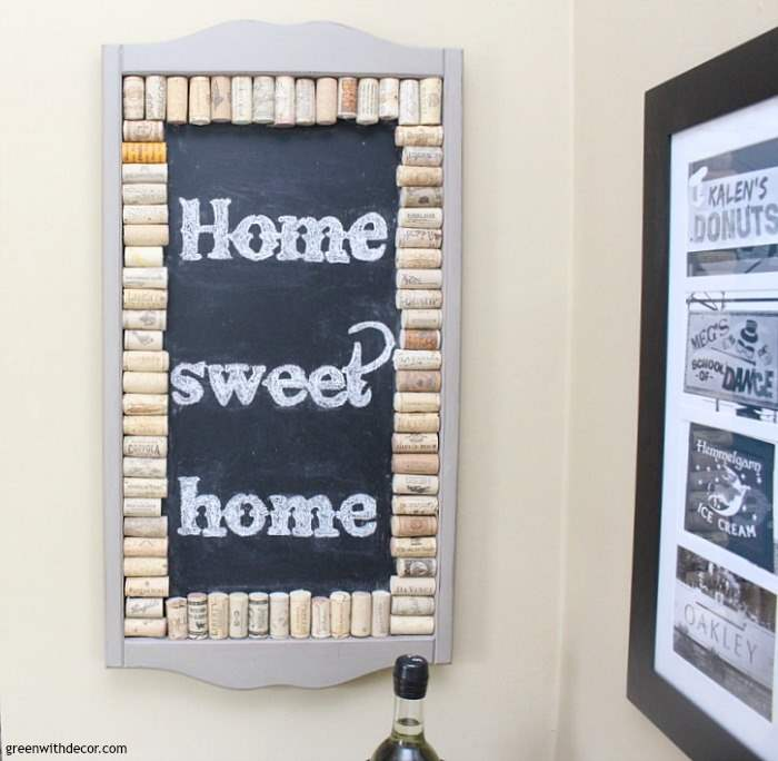 A list of the 10 best pieces to buy at the thrift store - frame turned cork chalkboard