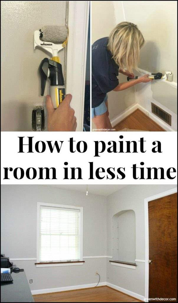 How to paint a room in less time. Great tools for getting trim and walls done without taping and in less time! So helpful when taking on a DIY painting project!
