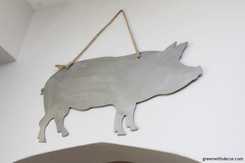 7 ways to update your kitchen when you can't renovate whether you're renting or don't have the budget for a kitchen renovation right now. Love this metal pig!