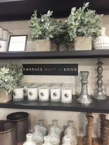Our trip to Magnolia Market, gorgeous farmhouse neutral shelves.