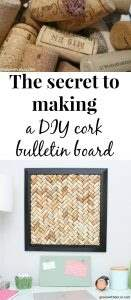 The secret to making a DIY cork bulletin board, these little tricks are so helpful and save so much time! Smart way to get corks to stay stuck together and get them attached to the back of the frame!