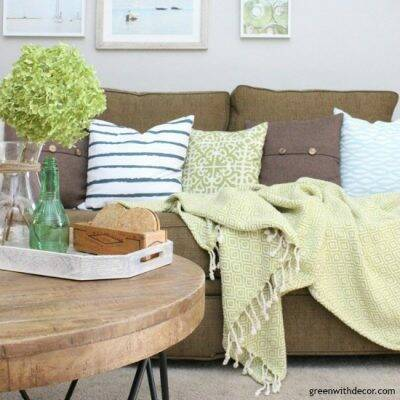 A coastal rustic living room