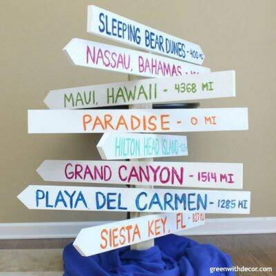 How to make a distance arrow sign: The best way to remember your favorite vacations