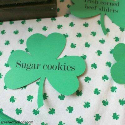 Ready for St. Patrick's Day! Making food party labels with a Silhouette machine
