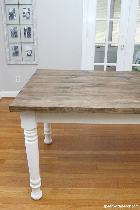 How to build a farmhouse dining table from start to finish - this table is gorgeous, and this step by step tutorial is easy to follow! Love the finish on this table!