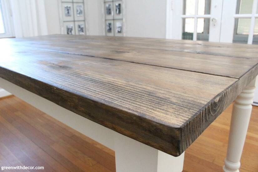 How to build a farmhouse dining table from start to finish - this table is gorgeous, and this step by step tutorial is easy to follow! Really like the finish on this table!
