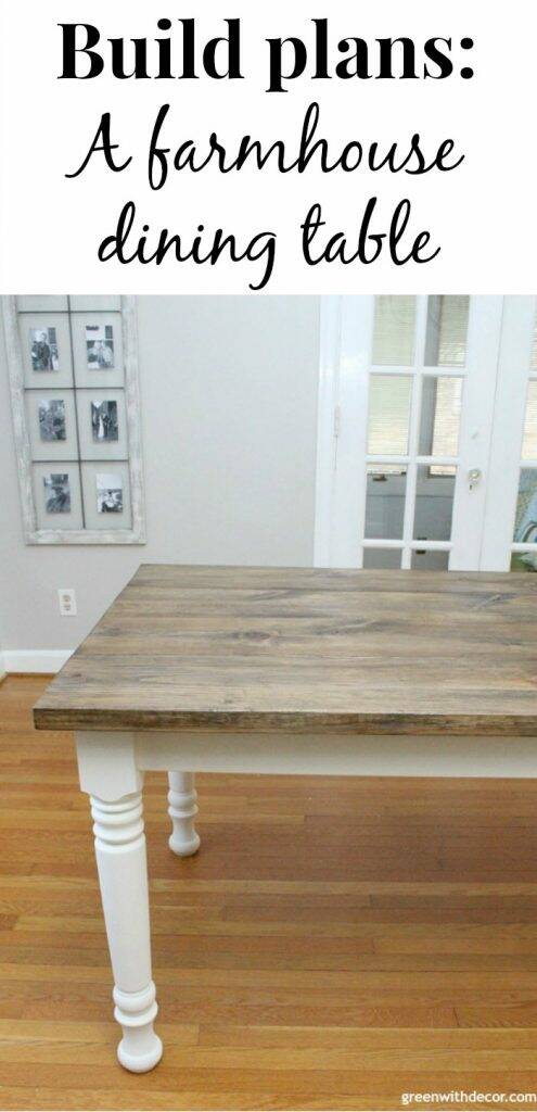 How to build a farmhouse dining table from start to finish, even if you've never built anything before - this table is gorgeous, and these build plans are easy to follow!