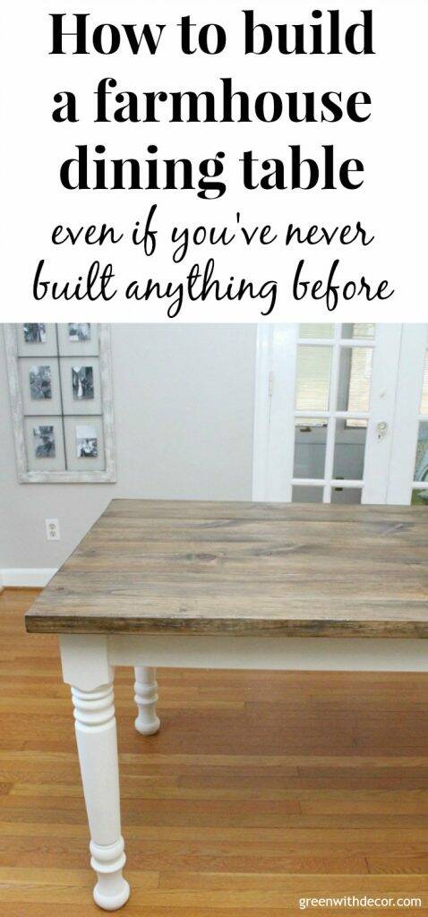 How to build a farmhouse dining table from start to finish, even if you've never built anything before - this table is gorgeous, and this step by step tutorial is easy to follow! Just love the finish on this table!