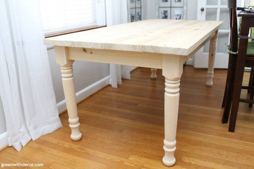 How to build a farmhouse dining table from start to finish - attach table top to the apron and legs