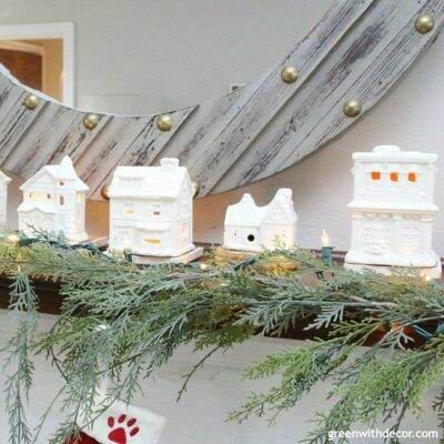A DIY Christmas village from the thrift store